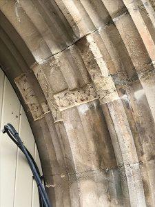 Stone Repair In Progress