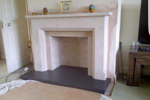 Devon stone mason - fireplace construction
