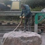 Cutting Large Stone Block